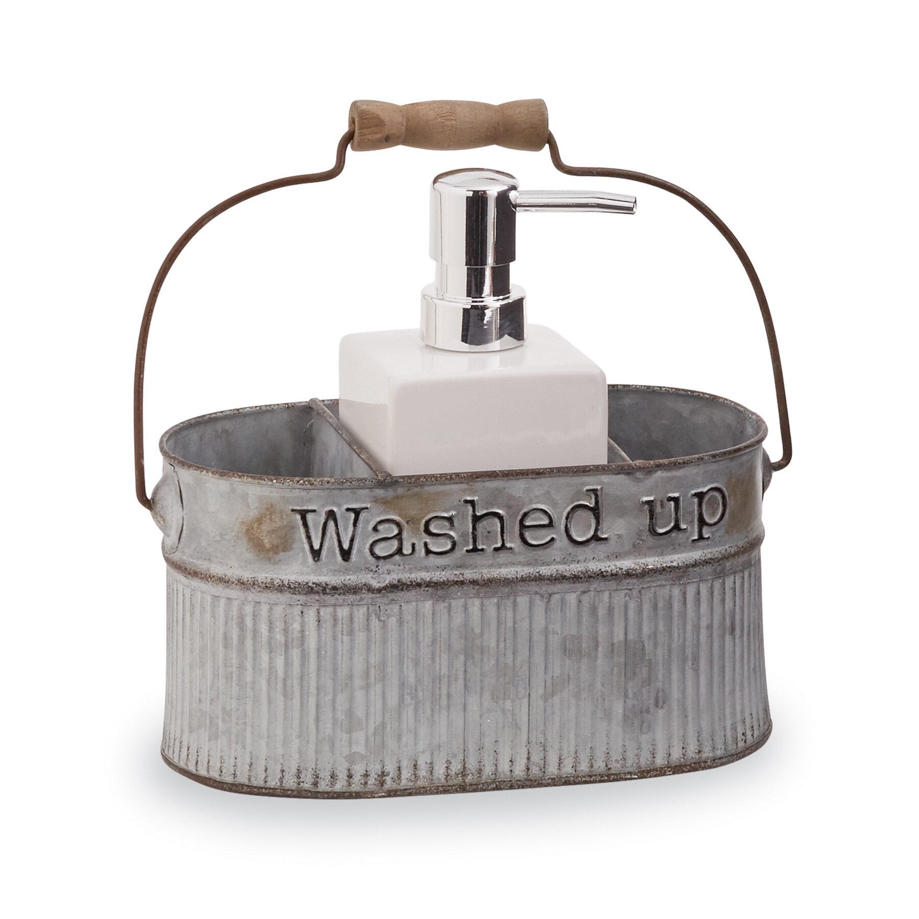 Mud Pie™ Galvanized Tin Farmhouse Soap Pump 2 Piece Bathroom Accessory Set  U0026 Reviews | Wayfair