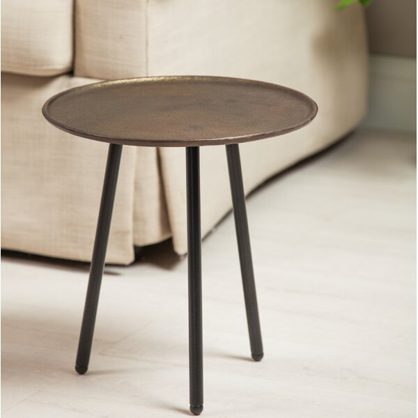 Tabor Casted Aluminum/Iron End Table by World Menagerie