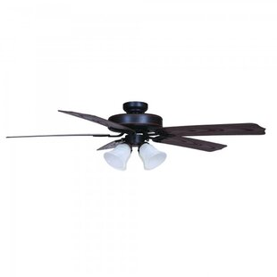 Price Check 52 Cornwall 5 Blade Outdoor Ceiling Fan By Charlton Home