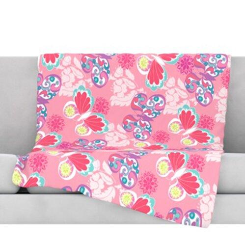 Baroque Butterflies Throw Blanket by KESS InHouse