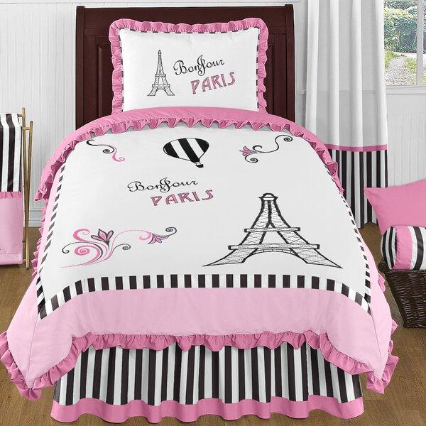 Paris 4 Piece Twin Comforter Set by Sweet Jojo Designs