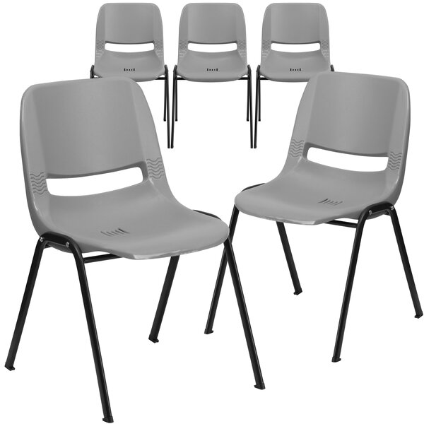 Pyron Armless Stacking Chair (Set of 5) by Latitude Run