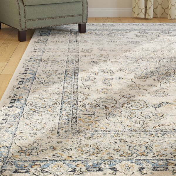 Persian Garden Vintage Ivory/Light Blue Area Rug by Darby Home Co
