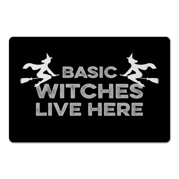 Carrabelle Basic Witches Live Here Kitchen Mat