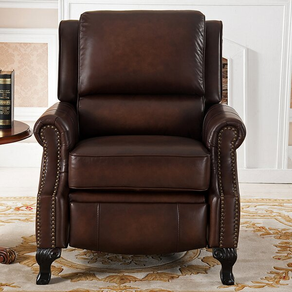 Princeton Leather Manual Recliner by Amax