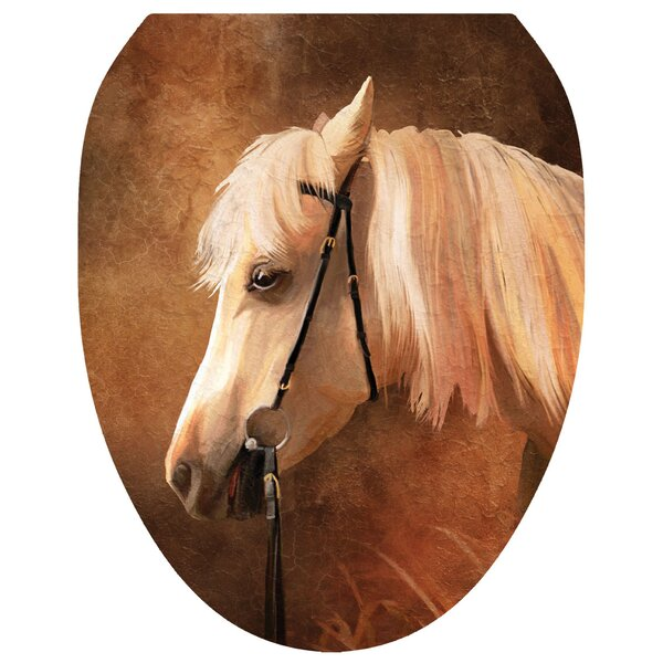 Painted Horse Toilet Seat Decal by Toilet Tattoos