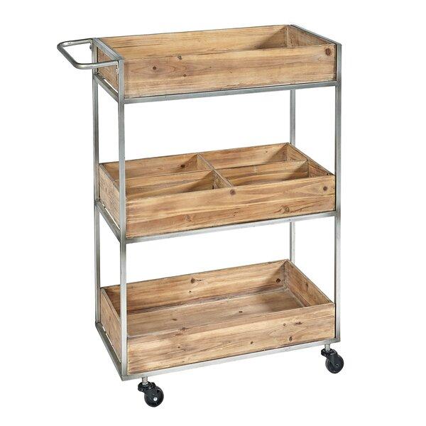 Prescot Metal/Wood Bar Cart by Williston Forge