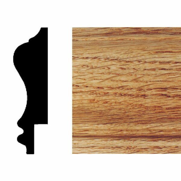 3/4 in. x 2-3/4 in. x 8 ft. Red Oak Wainscot Chair Rail Moulding by Manor House