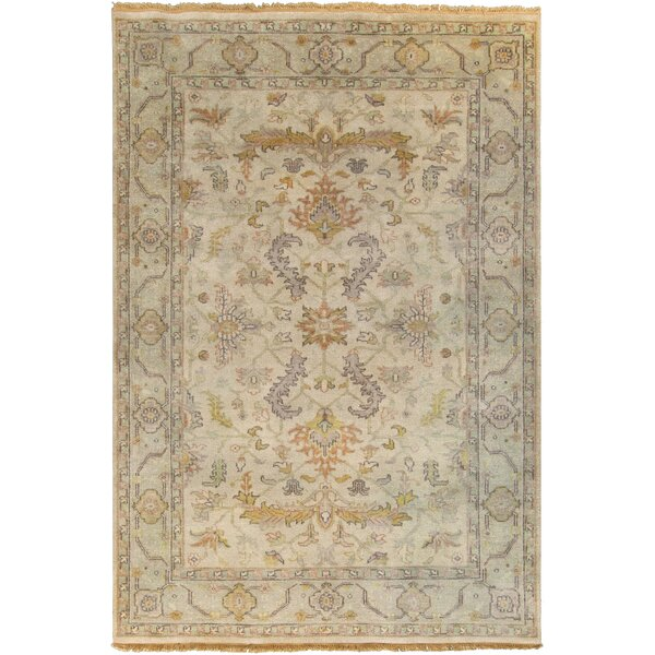 Bargamin Oriental Beige Area Rug by Darby Home Co