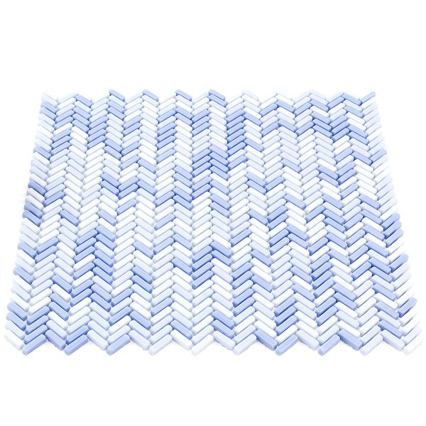 Recoup 12 x 12 Glass Mosaic Tile in Azure by Splashback Tile