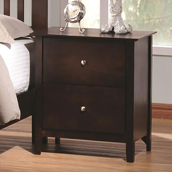 Sagers 2 Drawer Nightstand by Breakwater Bay