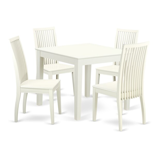 Cobleskill5 Piece Breakfast Nook Solid Wood Dining Set by Alcott Hill Alcott Hill
