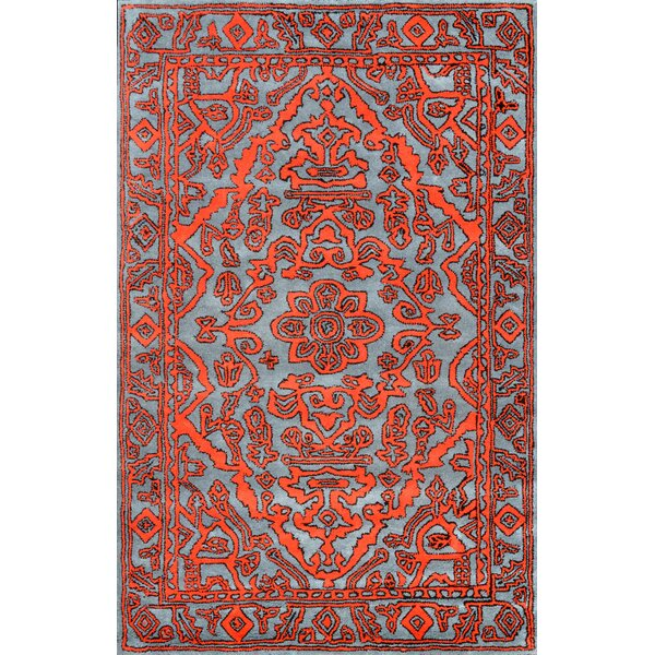 Marcus Hand-Tufted Wool Red Area Rug by nuLOOM