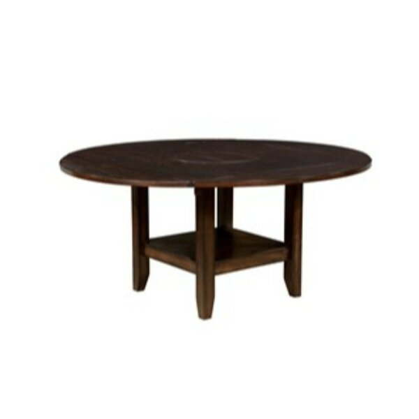 Mahle Solid Wood Dining Table by Millwood Pines Millwood Pines