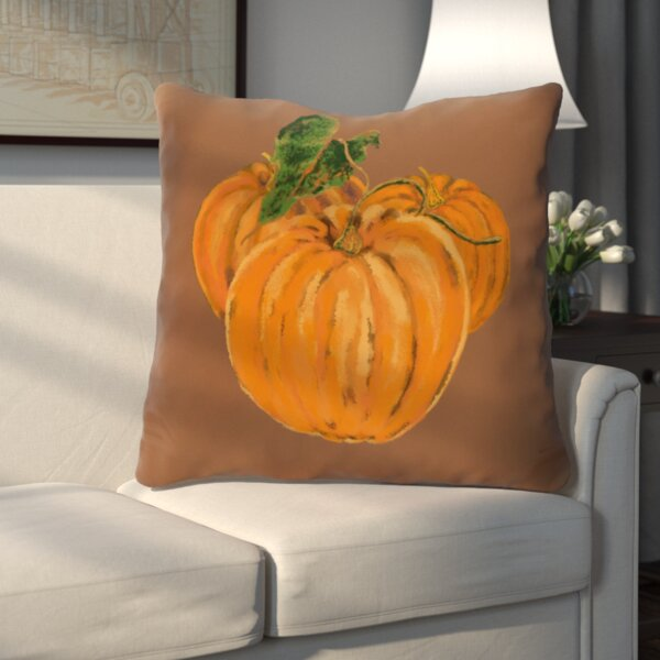 Tres Calabazas Holiday Print Throw Pillow by Three Posts