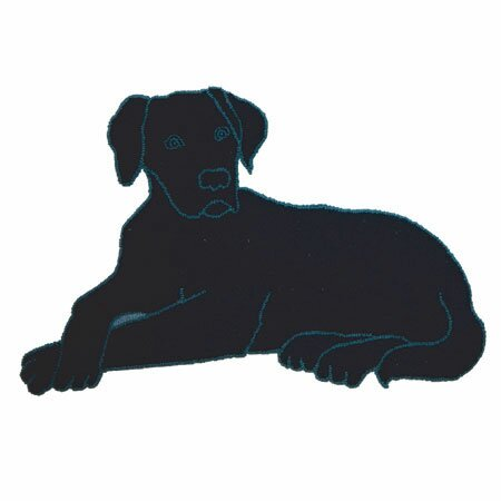 Black Lab Area Rug by Patch Magic