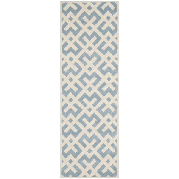 Wilkin Blue / Ivory Rug by Wrought Studio