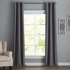 Bexley Solid Blackout Thermal Grommet Single Curtain Panel