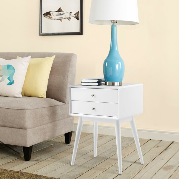 Stephanie End Table With Storage By Elle Decor