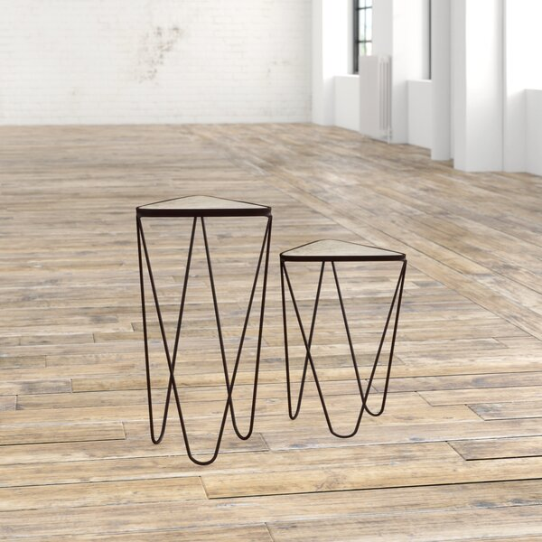 Bandera 2 Piece Angular End Table Set by Trent Austin Design