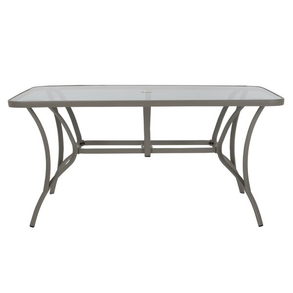 Kohlmeier Patio Steel Dining Table by Zipcode Design