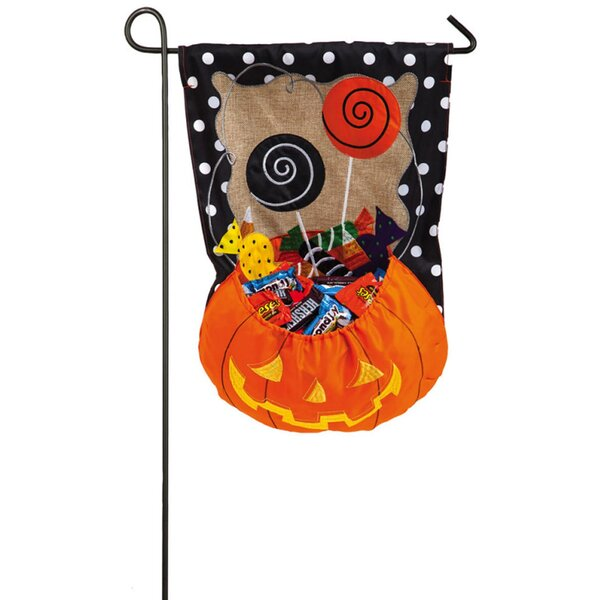 Halloween Candy Treat Garden Flag by Evergreen Enterprises, Inc