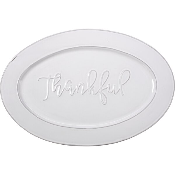 Bountiful Blessings Thankful Ceramic Serving Platter by Precious Moments