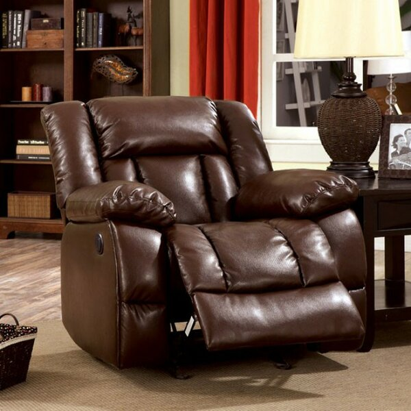 Demetris Transitional Leather Recliner by Red Barrel Studio
