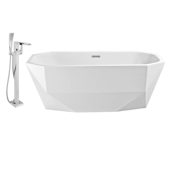 63 x 24 Freestanding Soaking Bathtub by Wildon Home ®