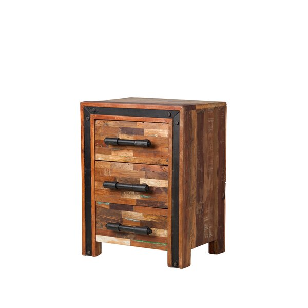 Jaipur Mixed Wood 3 Drawer Nightstand by Design Tree Home