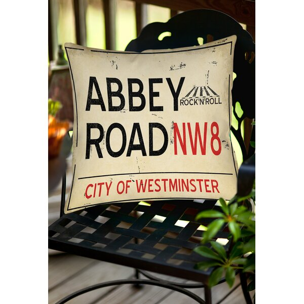 Abbey Road Indoor/Outdoor Throw Pillow by Manual Woodworkers & Weavers