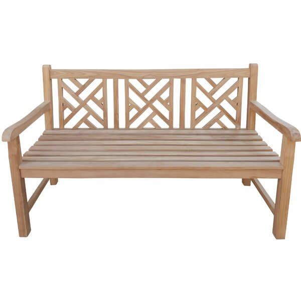Maisie Teak Garden Bench by Rosecliff Heights Rosecliff Heights