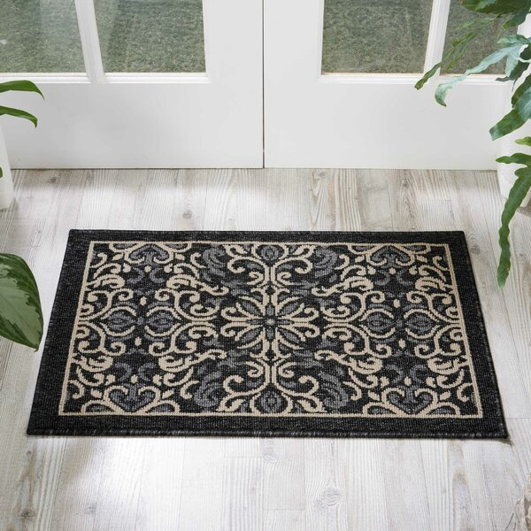 Ashby Charcoal Indoor/Outdoor Area Rug