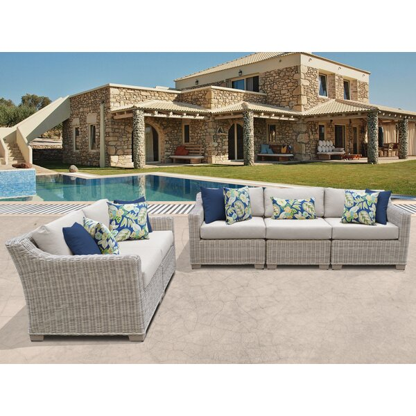 Claire 5 Piece Sofa Seating Group with Cushion by Rosecliff Heights