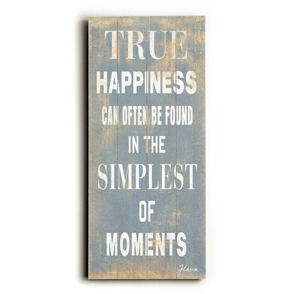 True Happiness Textual Art by Artehouse LLC