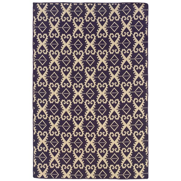 Blueridge Hand-Tufted Purple/Beige Area Rug by Darby Home Co
