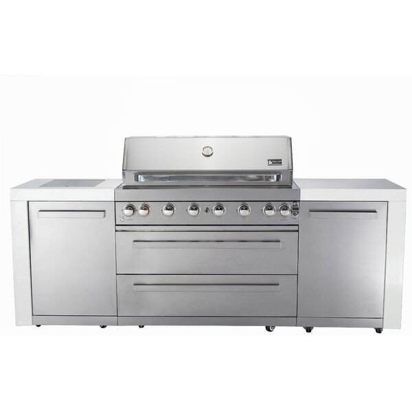8-Burner Built-In Convertible Gas Grill with Cabin