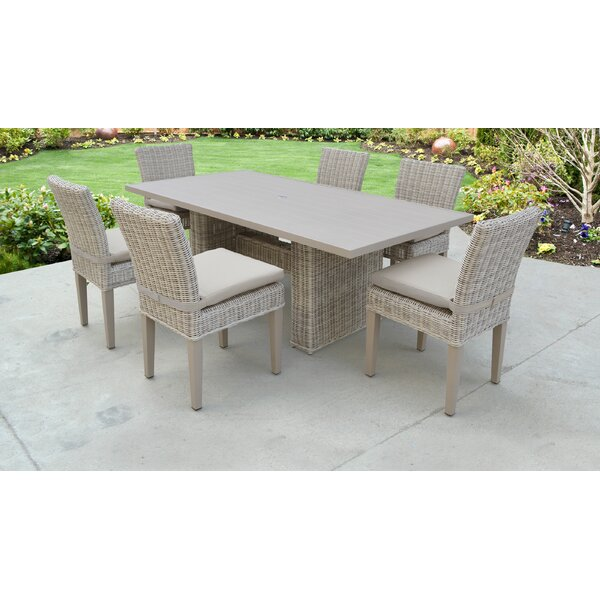 7 Piece Dining Set with Cushions by TK Classics