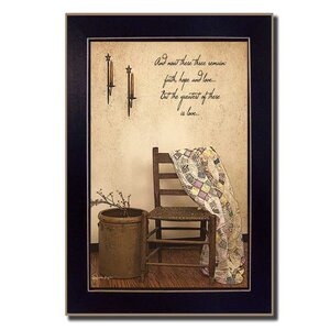 'These Three Remain' Framed Graphic Art Print by Andover Mills