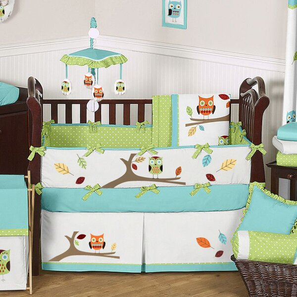 Hooty 9 Piece Crib Bedding Set by Sweet Jojo Designs