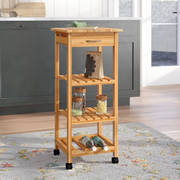 Abbey Kitchen Cart by August Grove