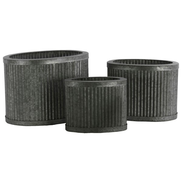 Duff Oval Metal Pot Planter (Set of 3) by Williston Forge