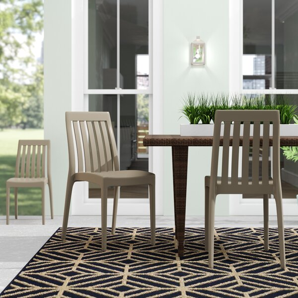 Mcgregor Stacking Patio Dining Chair (Set of 2) by Wrought Studio