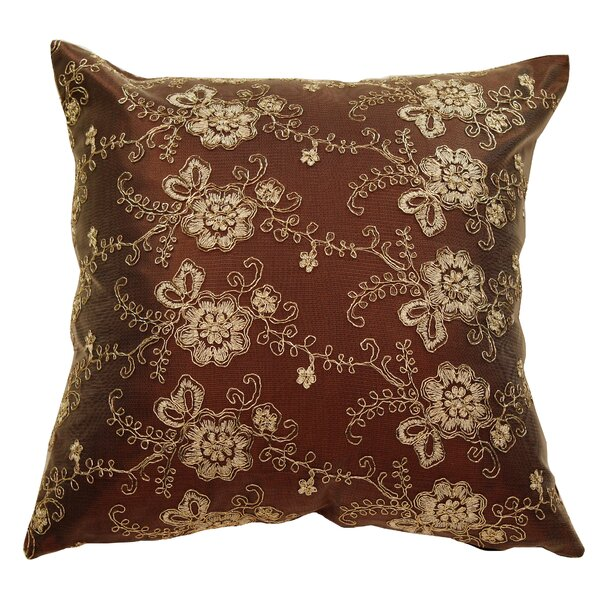 Swiss Vintage Embroidered Flowers Pillow Cover by Violet Linen