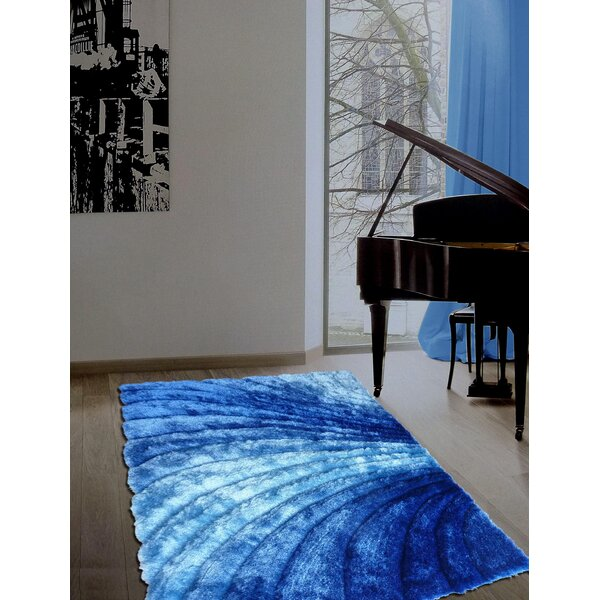 Pavonia Hand-Tufted Blue Area Rug by Latitude Run