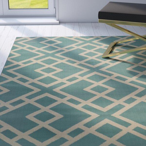 Alula Geometric Blue/Light Grey Area Rug by Willa Arlo Interiors