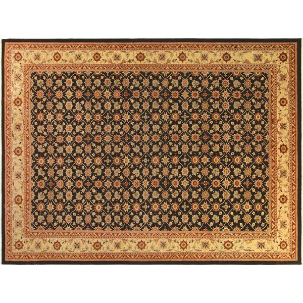 Xenos Hand-Knotted Wool Brown Indoor Area Rug by Astoria Grand