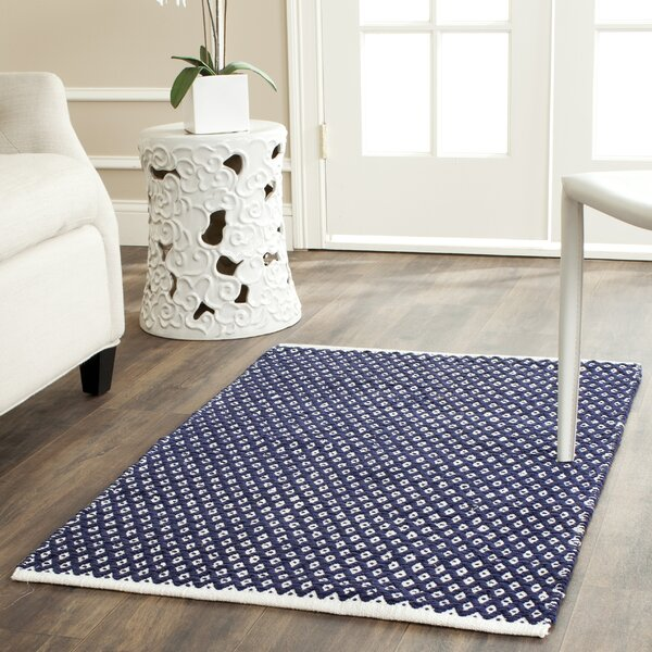 Ash Navy Area Rug by Zipcode Design