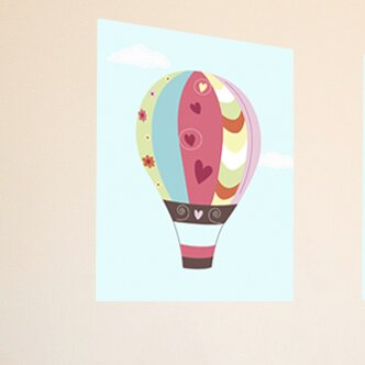 Hot Air Balloon Canvas Art by Secretly Designed