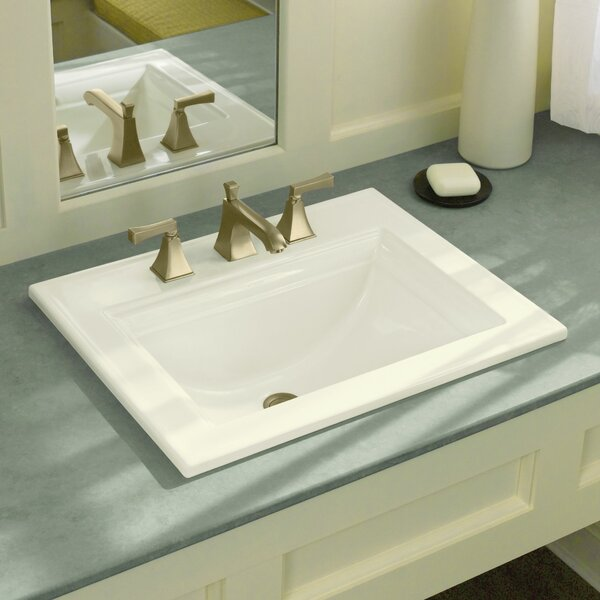 Kohler Memoirs Ceramic Rectangular Drop In Bathroom Sink With Overflow Reviews Wayfair
